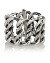 Bottega Veneta | Metallic Sterling Silver Bracelet | Lyst