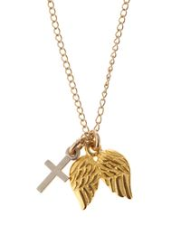 Dogeared - Metallic Believe Charm Necklace Gold - Lyst