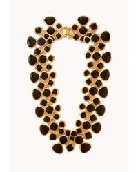 Forever 21 - Black Lacquered Link Necklace - Lyst