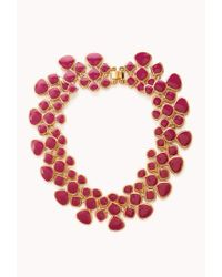 Forever 21 | Pink Lacquered Link Necklace | Lyst
