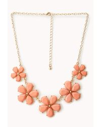 Forever 21 | Metallic Sweet Side Floral Necklace | Lyst