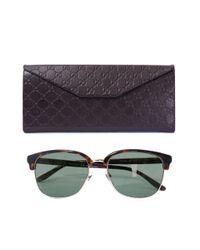 Gucci - Black D-Frame Sunglasses for Men - Lyst