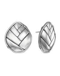 John Hardy | Metallic Bamboo Button Post Earrings | Lyst