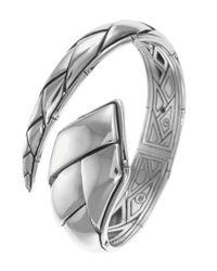 John Hardy | Metallic Bamboo Silver Overlap Cuff for Men | Lyst