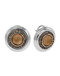 John Hardy | Brown Bedeg Smoky Quartz Post Earrings | Lyst