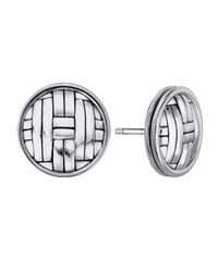 John Hardy | Metallic Bedeg Woven-carved Round Post Earrings | Lyst