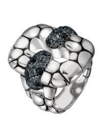 John Hardy - Blue Kali Rectangle Sapphire Ring - Lyst