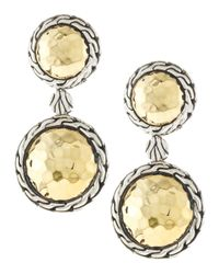 John Hardy - Metallic Small Double Round Drop Earrings - Lyst
