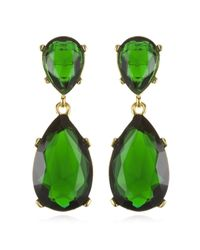 Kenneth Jay Lane | Green Emerald Drop Earrings | Lyst