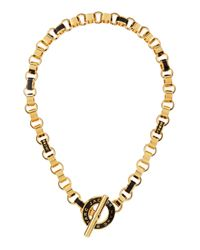 Marc By Marc Jacobs | Metallic Enamel Toggle Necklace Black | Lyst