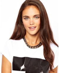 Orelia - Blue River Island Iridescent Chunky Chain Necklace - Lyst