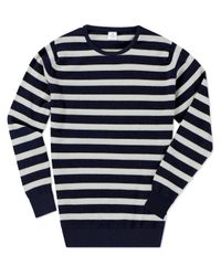 Sunspel - White Cashmere Crew Neck Jumper for Men - Lyst