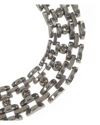AllSaints - Metallic Hesse Crystal Necklace - Lyst