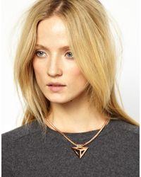ASOS - Metallic Whistles Geometric Necklace - Lyst