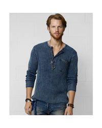 Denim & Supply Ralph Lauren | Blue Henley Shirt   for Men | Lyst