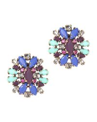 J.Crew | Blue Crystal Shimmer Earrings | Lyst