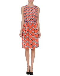 M Missoni - Orange Knee-length Dress - Lyst