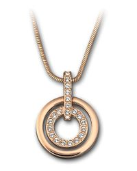 Swarovski - Pink Circle Pendant - Lyst