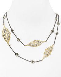 Alexis Bittar | Metallic Lace and Pyrite Station Necklace  | Lyst