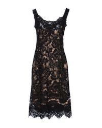 Dolce & Gabbana   Black Key-Print Chiffon Dress   Lyst