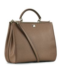 Dolce & Gabbana | Metallic Large Miss Sicily Shopper | Lyst