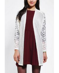 Urban Outfitters - White Kimchi Blue Cozy Lace Cardigan - Lyst