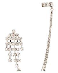 H&M - Metallic Earrings with Ear Cuff - Lyst
