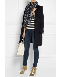 J.Crew - Blue Striped Woven Scarf - Lyst