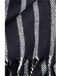 J.Crew   Blue Striped Woven Scarf   Lyst