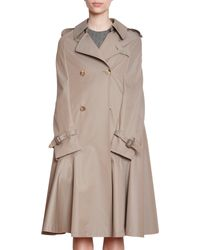 Junya Watanabe - Natural Cotton Trench Cape - Lyst