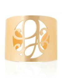 K Kane - Metallic 2-Initial Monogram Cuff Bracelet - Lyst