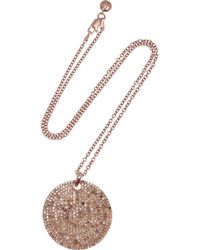 Monica Vinader | Metallic Ava Rose Gold Plated Diamond Necklace | Lyst