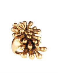 Oscar de la Renta | Metallic Seaweed Ring | Lyst