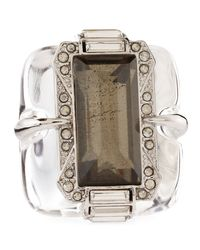 Alexis Bittar - Brown Large Lucite Pyrite Ring - Lyst