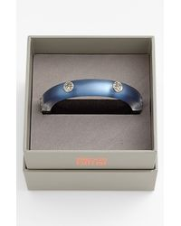 Alexis Bittar | Blue Lucite Hinged Bangle Bracelet | Lyst