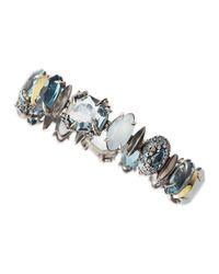 Alexis Bittar Fine | Blue Large Midnight Marquise Bracelet | Lyst