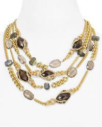 Alexis Bittar | Metallic Multi Strand Multi Stone Chain Link Necklace 16 | Lyst