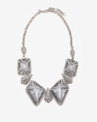 Alexis Bittar | Metallic Pave Lattice Cage Necklace | Lyst