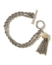 Banana Republic - Metallic Tassel Bracelet - Lyst