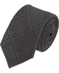Brunello Cucinelli - Gray Glen Plaid Tie for Men - Lyst