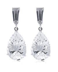 Carat* | Metallic 2ct Pear Drop Earrings | Lyst