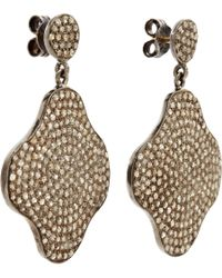 Carole Shashona | Black Diamond Medium Lotus Awakening Earrings | Lyst