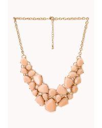 Forever 21 | Orange Sweet Side Bib Necklace | Lyst