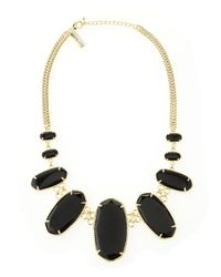 Kendra Scott | Black Ginger Necklace | Lyst