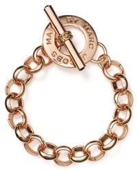 Marc By Marc Jacobs - Metallic Toggle Bracelet - Lyst