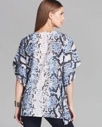 MICHAEL Michael Kors | Blue Short-sleeve Printed Layered Top | Lyst