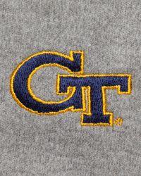 Peter Millar - Gray Gameday Georgia Tech 1/4-zip Fleece Pullover for Men - Lyst