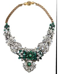 Shourouk | Green Flower Burst Crystal Necklace | Lyst