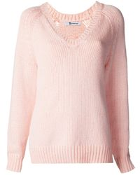 T By Alexander Wang   Purple Ribbed Knit Sweater   Lyst