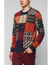 Urban Outfitters - Multicolor Character Hero Block Geo Pullover Sweatshirt for Men - Lyst